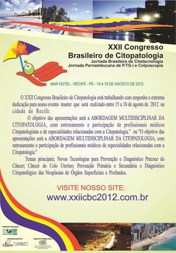 Cartaz do Congresso Brasileiro de Citologia